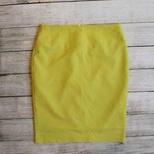 Alfani Chartreuse Lime Green Pencil Skirt 4